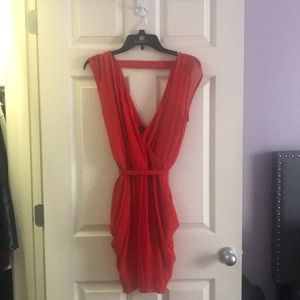Red dress by bebe
